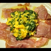 Pofrigan pršut z jaji (domaća jela Istre i Kvarnera)